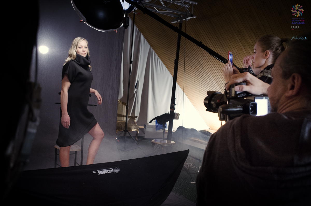Frida Hansdotter at photo session